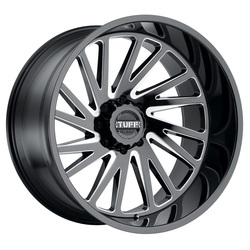 Tuff Wheels T2A - Gloss Black with Milled Spoke Rim