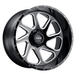 Tuff Wheels T2B - Gloss Black W/Milled Spoke Rim - 24x14