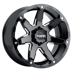 Tuff Wheels T4A - Gloss Black with Milled Spoke