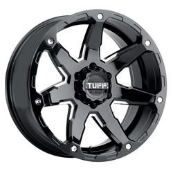 Tuff Wheels T4A - Gloss Black with Milled Spoke Rim