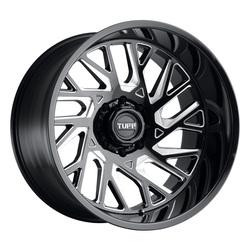 Tuff Wheels T4B - Gloss Black W/Milled Spoke Rim - 24x14