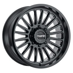 Tuff Wheels T5A - Gloss Black with Milled Spoke