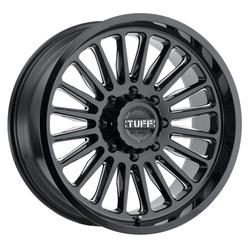 Tuff Wheels T5A - Gloss Black with Milled Spoke Rim