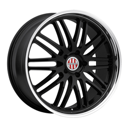 Victor Equipment Wheels Lemans - Gloss Black with Mirror Cut Lip - 19x8