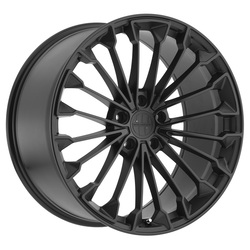 Victor Equipment Wheels Wurttemburg - Matte Black with Gloss Black Face - 22x11