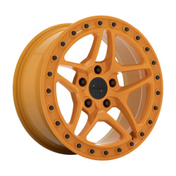 Victor Equipment Wheels Berg - Gloss Orange with Black Bolts Rim - 17x8