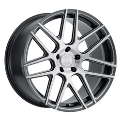 XO Luxury Wheels Moscow - Gloss Gunmetal w/Milled Spoke & Brushed Face Rim - 22x11