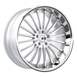 XO Wheels New York - Silver w/Brushed Face & Stainless Steel Lip