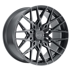 XO Luxury Wheels Phoenix - Gunmetal w/Brushed Gunmetal Face Rim - 22x11
