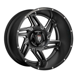 American Truxx Wheels AT186 Spurs - Black/Milled Rim - 24x14