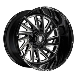 American Truxx Wheels AT1905 Blade - Black/Milled Rim