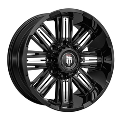 American Truxx Wheels AT152 Stacks - Gloss Black with Chrome Inserts Rim