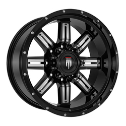 American Truxx Wheels AT153 Steel - Gloss Black with Chrome Inserts Rim