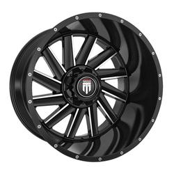 American Truxx Wheels AT166 Striker - Gloss Black Milled Rim