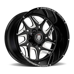 American Truxx Wheels Sweep - Black/Milled Rim
