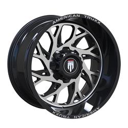 American Truxx Wheels AT1900 Sweep - Gloss Black Milled Rim
