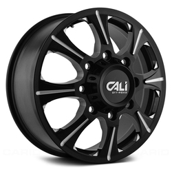 Cali Off-Road Wheels 9105 Brutal - Front Black/Milled Spokes Rim - 22x8.25