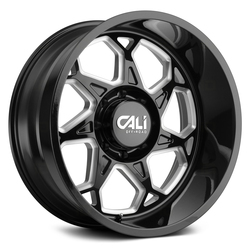 Cali Off-Road Wheels Sevenfold 9111 - Gloss Black Milled Spokes Rim