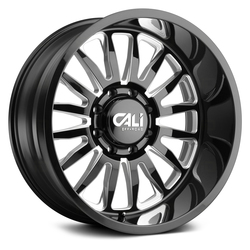 Cali Off-Road Wheels Summit 9110 - Gloss Black Milled Spokes Rim