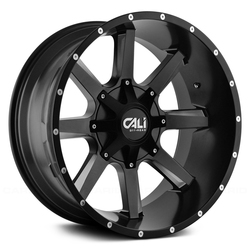 Cali Off-Road 9100 Busted - Satin Black/Milled Spokes
