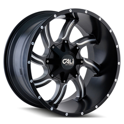 Cali Off-Road Wheels 9102 Twisted - Satin Black/Milled Spokes Rim