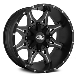 Cali Off-Road Wheels 9107 Obnoxious - Satin Black/Milled Spokes Rim - 22x12