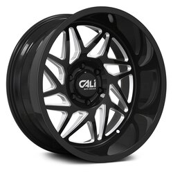 Cali Off-Road Wheels Gemini 9113 - Gloss Black/Milled Spokes Rim