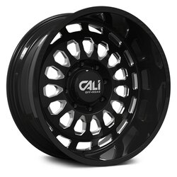 Cali Off-Road Wheels Paradox 9113 - Gloss Black/Milled Spokes Rim