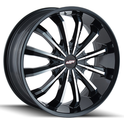 DIP Wheels Fusion D40B - Gloss Black/Machined Face Rim - 24x9.5