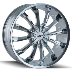DIP Wheels Fusion D40C - Chrome Rim - 24x9.5
