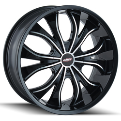 DIP Wheels Hustler D42B - Gloss Black/Machined Face Rim