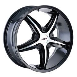 DIP Wheels Diplomat D35B - Black/Machined Face
