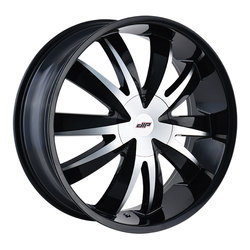 DIP Wheels Edge D37B - Gloss Black/Machined Face