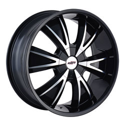 DIP Wheels Vibe D38B - Gloss Black/Machined Face Rim