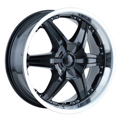 DIP Wheels Wicked D39B - Black/Machined Lip Rim
