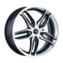 DIP Wheels Bionic D63B - Black/Machined Face/Machined Lip