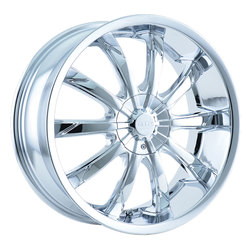DIP Wheels Slack D66C - Chrome - 22x8