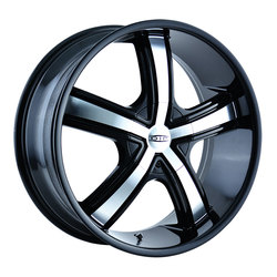 DIP Wheels Boost D69B - Black/Machined Face Rim