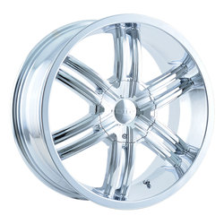 DIP Wheels Hack D98C - Chrome Rim - 24x9.5