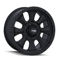 Dirty Life Wheels Ironman 9300 ATV - Matte Black/Black Beadlock Rim - 14x7