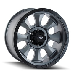 Dirty Life Wheels Dirty Life Wheels Ironman 9300 ATV - Matte Gunmetal w/Black Beadlock - 14x7