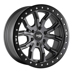 Dirty Life Wheels 9303 DT-1 - Matte Gunmetal with Black Simulated Ring Rim