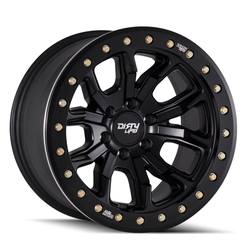 Dirty Life Wheels 9303 DT-1 Beadlock - Matte Black w/Simulated Beadlock Ring