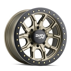 Dirty Life Wheels 9303 DT-1 Beadlock - Satin Gold w/ Simulated Beadlock Ring