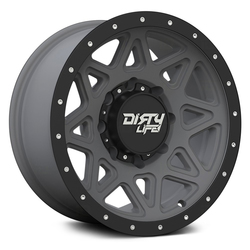Dirty Life Wheels Theory 9305 - Matte Gunmetal w/ Matte Black lip