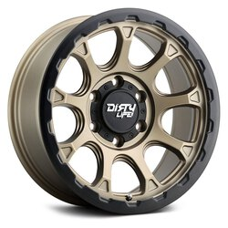 Dirty Life Wheels Drifter 9307 - Matte Gold W/ Matte Black Lip Rim