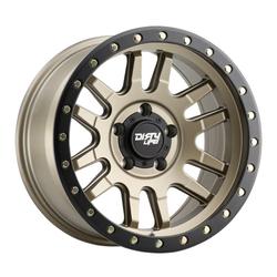 Dirty Life Wheels Canyon Pro 9309 - Satin Gold with Black Lip Rim