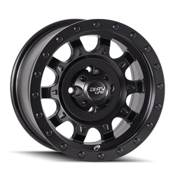 Dirty Life Wheels Roadkill 9301 UTV - Matte Black/Black Beadlock Rim - 14x7