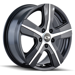Ion Alloy Wheels 101 - Gloss Black w/Machined Face Rim