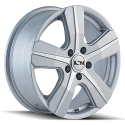 Ion Alloy Wheels 101 - Silver w/Machined Face Rim